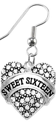 The Perfect Gift Sweet Sixteen Hypoallergenic Earring, Safe - Nickel, Lead & Cadmium Free!