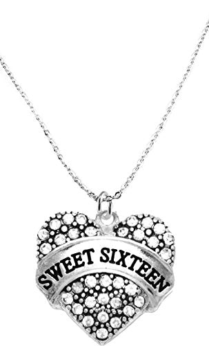 the perfect gift sweet sixteen hypoallergenic necklace, safe - nickel, lead & cadmium free!