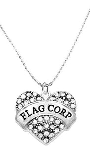 Flag Corp Crystal Heart Necklace, Safe - Hypoallergenic, Nickel, Lead & Cadmium Free!