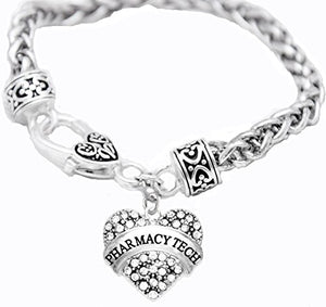 Pharmacy Tech Crystal Heart Bracelet, Safe - Nickel, Lead & Cadmium Free!