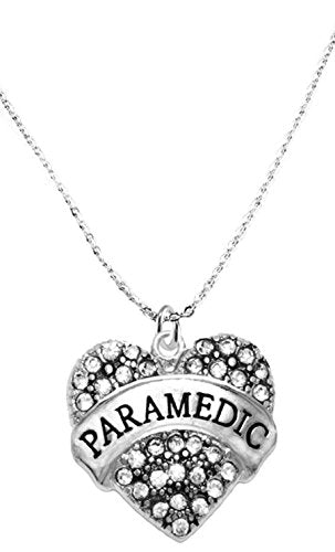 the perfect gift paramedic hypoallergenic necklace, safe - nickel, lead & cadmium free!