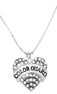 Color Guard Crystal Heart Necklace, Safe - Hypoallergenic, Nickel, Lead & Cadmium Free!