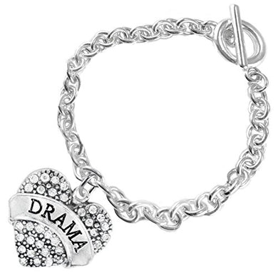 Drama Crystal Heart Hypoallergenic Bracelet. Nickel and Lead Free!