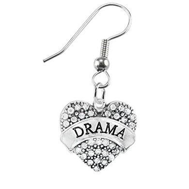 Drama Crystal Heart Hypoallergenic Earring. Nickel and Lead Free!