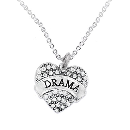 Drama Crystal Heart Hypoallergenic Necklace. Nickel and Lead Free!