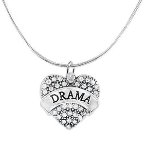 Drama Crystal Heart Adjustable Hypoallergenic Necklace. Nickel and Lead Free!