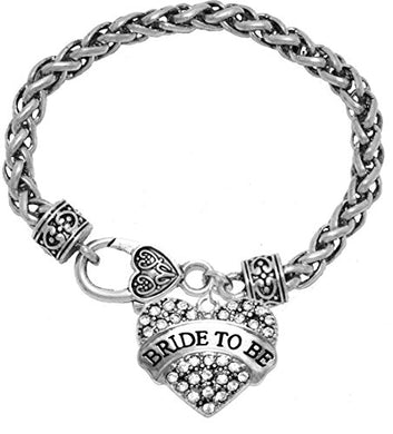Bride to Be Crystal Heart Bracelet, Safe - Nickel, Lead & Cadmium Free!