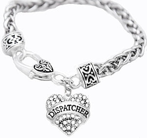 Dispatcher Crystal Heart Bracelet, Safe - Nickel, Lead & Cadmium Free!