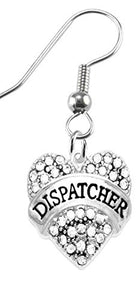 Dispatcher Crystal Heart Earrings, Safe - Nickel, Lead & Cadmium Free!