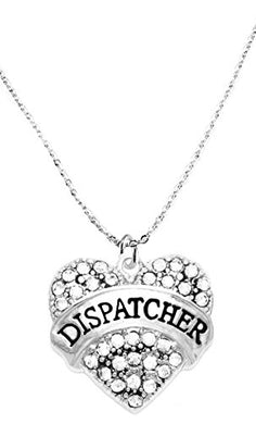 Dispatcher Crystal Heart Necklace, Safe - Nickel, Lead & Cadmium Free!