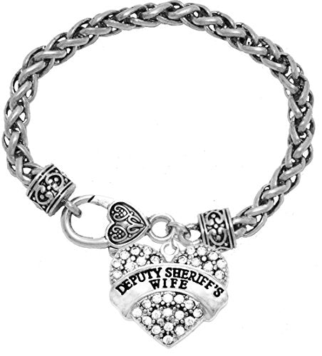 the perfect gift deputy sheriff's wife hypoallergenic bracelet, safe - nickel, lead & cadmium free!