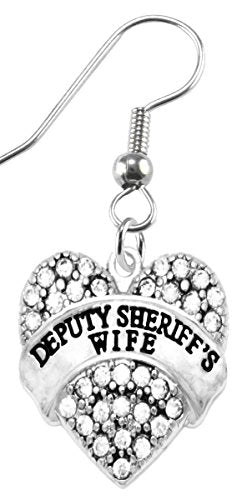The Perfect Gift Deputy Sheriff's Wife Hypoallergenic Earring, Safe - Nickel, Lead & Cadmium Free!