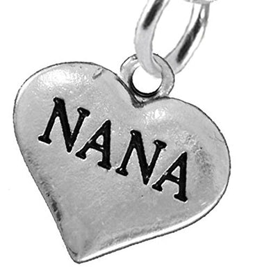 Nana Heart Charm Post Earrings ©2016 Hypoallergenic, Safe - Nickel, Lead & Cadmium Free!