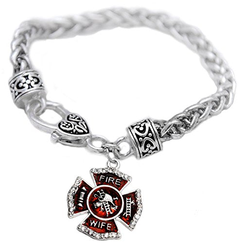 firefighter's wife crystal bracelet,  ©2015 safe - nickel, lead & cadmium free!