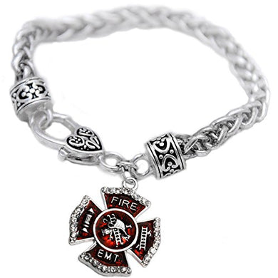 EMT FIREFIGHTER Bracelet, Safe - Nickel, Lead & Cadmium Free!