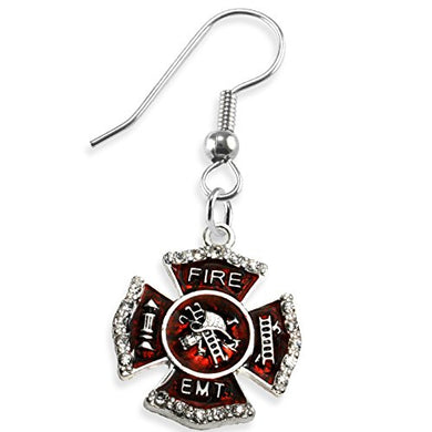 EMT FIREFIGHTER Earrings, Safe - Nickel, Lead & Cadmium Free!