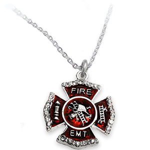 EMT FIREFIGHTER Necklace ©2015 Safe - Nickel, Lead & Cadmium Free!