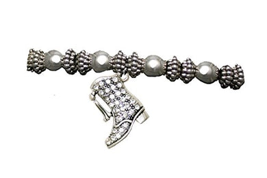 Drill Boot Crystal Bracelet, Safe - Nickel, Lead & Cadmium Free!