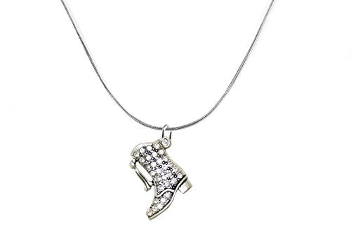 Drill Boot Crystal Necklace, Safe - Nickel, Lead & Cadmium Free!