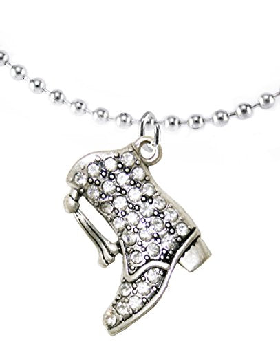 Drill Boot Crystal Necklace - Safe, Nickel, Lead & Cadmium Free!
