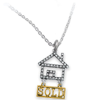 Real Estate Sold Crystal Necklace, Safe - Nickel, Lead & Cadmium Free!
