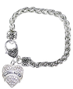 Barrel Racer Crystal Heart Bracelet, Safe - Nickel, Lead & Cadmium Free!
