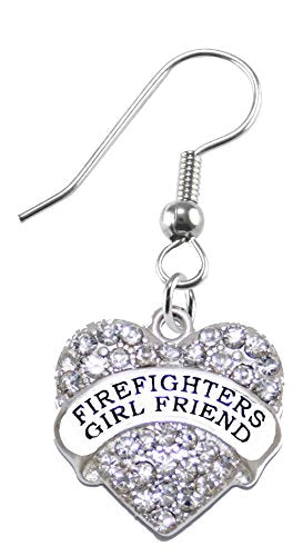Firefighter's Girl Friend Crystal Earring, Safe - Nickel, Lead & Cadmium Free!