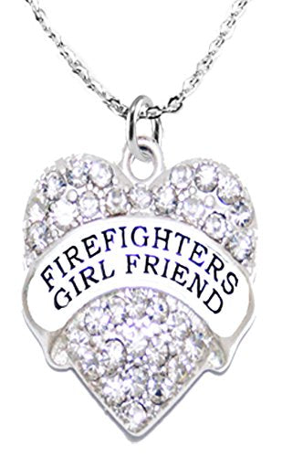 firefighter's girl friend crystal necklace, safe - nickel, lead & cadmium free!