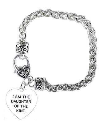 I Am the Daughter of The King Heart Bracelet, Safe - Nickel, Lead & Cadmium Free!