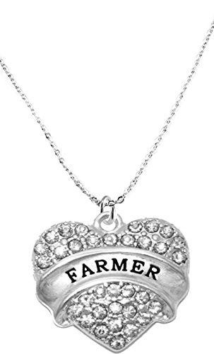 Farmer Hypoallergenic Crystal Heart Cable Chain Necklace