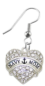 "The Perfect Gift ""Navy Mom"" Hypoallergenic Earring, Safe - Nickel, Lead & Cadmium Free!"