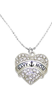 "The Perfect Gift ""Navy Mom"" Hypoallergenic Necklace, Safe - Nickel, Lead & Cadmium Free!"