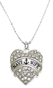 The Perfect Gift Navy Wife Hypoallergenic Necklace, Safe - Nickel, Lead & Cadmium Free!