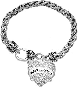 Best Friends Crystal Heart Bracelet