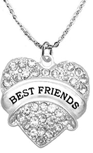 Best Friends Adjustable Crystal Heart Necklace