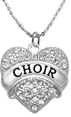 Choir Crystal Heart Necklace