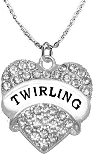 twirling crystal heart necklace