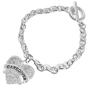 "The Perfect Gift ""Caregiver"" Hypoallergenic Bracelet, Safe - Nickel & Lead Free"