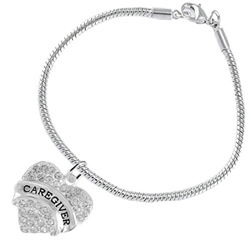 """the perfect gift """"caregiver"""" hypoallergenic bracelet, safe - nickel & lead free"""