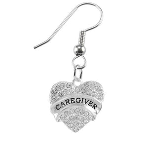 "The Perfect Gift ""Caregiver"" Adjustable Hypoallergenic Earring, Safe - Nickel & Lead Free"