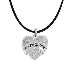 "The Perfect Gift ""Caregiver"" Adjustable Hypoallergenic Necklace, Safe - Nickel & Lead Free"
