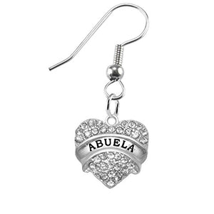 Abuela Crystal Heart Earrings, Safe - Hypoallergenic, Nickel, Lead & Cadmium Free!