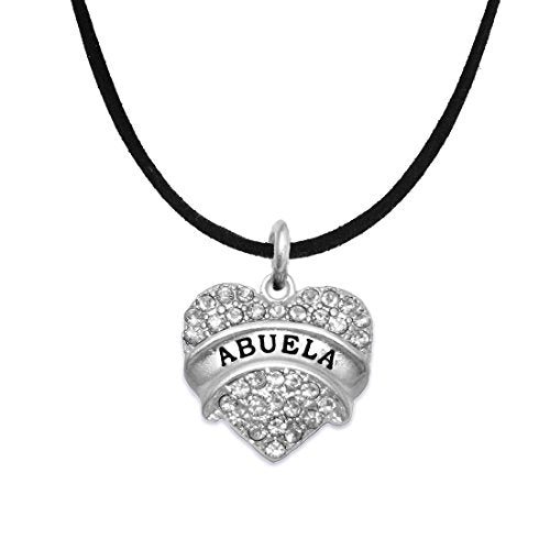 Abuela Crystal Heart Necklace ©2015, Safe - Hypoallergenic, Nickel, Lead & Cadmium Free!