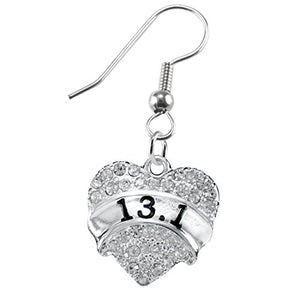 13.1 Running Crystal Heart Earring- Hypoallergenic Nickel, and Lead Free!
