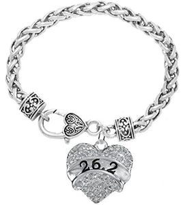 26.2 Running Crystal Heart Bracelet - Hypoallergenic Nickel, and Lead Free!