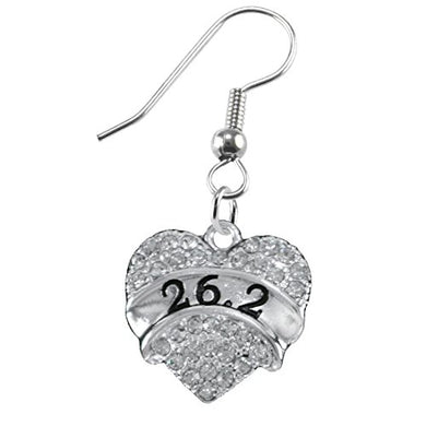 26.2 Running Crystal Heart Earring- Hypoallergenic Nickel, and Lead Free!