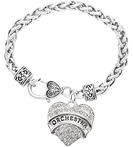 Orchestra Crystal Heart Hypoallergenic Safe Bracelet. Nickel, Lead & Cadmium Free