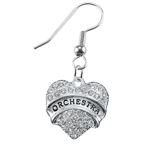 orchestra crystal heart hypoallergenic safe earring. nickel, lead & cadmium free