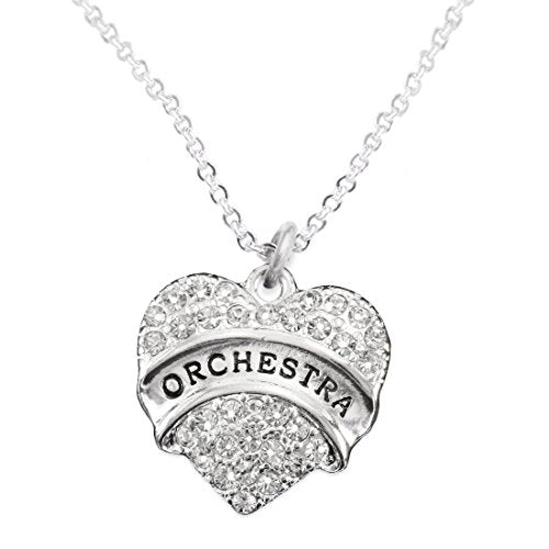 orchestra crystal heart hypoallergenic safe necklace nickel & lead free