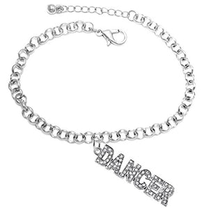 "Dancer Adjustable Hypoallergenic Safe Bracelet. Nickel, Lead & Cadmium Free ""Fits Anyone"""